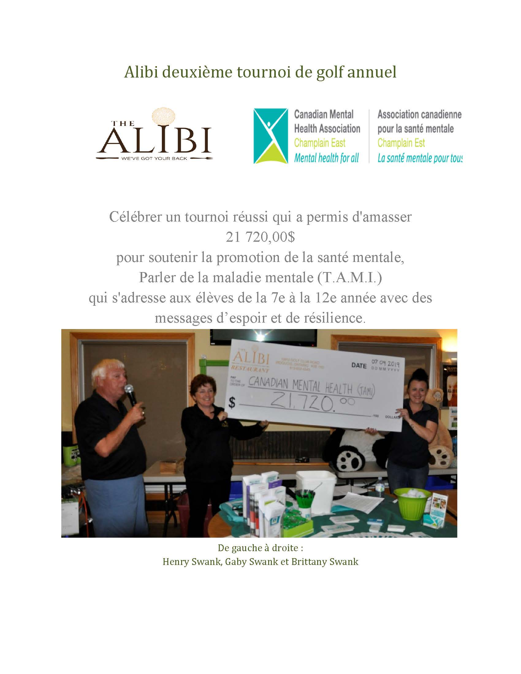 Alibi Second Annual Golf Tournament   2019 Thank you Page 3